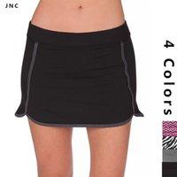 Wholesale Active Sports Gym Fitness Yoga Skirted Shorts Women Short Liner Skirt Shorts Half Length Tennis Running Black Workout Skirt