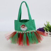 ballet totes - 2016 New Stylish Halloween Christmas Party Tote Bag of Canvas Tutu Ballet Bag with Multi Layered Tulle Cheap Only