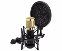 Wholesale Black Y Microphone Audio Professional cm x cm x cm Shock Mount with cm x cm x cm POP Filter Screen