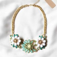 beautiful department - 2015 ultra beautiful fresh sweet candy Department drops precious stones Flower Necklace