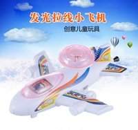 Wholesale 2016 Hot sale Pull Wire mini airplane models luminous Child toy plane baby learning education toys gifts for Kids