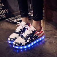 Wholesale 2016 New Summer LED Lamp Colorful Luminescence Men And Women Noctilucent Male Fluorescence Shoe Lovers skateboarding Paragraph USB Charge