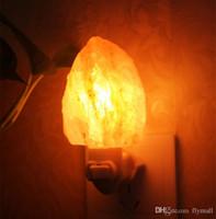 air sea - Natural Himalayan Salt Night Light Decorative Air Purifier Wall Lamp Cylinder Light Nursery Lamp Natural Crystal Lamp US EU AU UK Plug