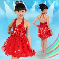 Wholesale 5pcs Cheap girls Dancewear Children s Day Children s costumes Festival Celebration sequined Halter Tutu Dress for Stage Performance T Y