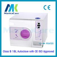big iso - 18L Europe B Class Medical Dental Autoclave with Printer Lab Equipment Vacuum Steam Sterilizer with CE and ISO Big Discount