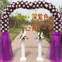 Wholesale Cheap wedding marriage full flower door arches finished silk opening new