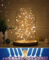 ac personalized - Glass Shade Wooden Vintage Table Lamp Desk Light Bedroom LED Night Light Personalized Creative Birthday Christmas Gift Decor Desk Lamp MYY