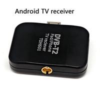 Wholesale Digital satellite DVB t2 usb tv stick Tuner with antenna HD TV Receiver for DVB T2 DVB C FM DAB DHL
