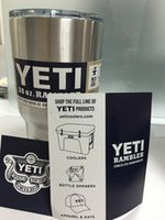 Wholesale Stainless Steel oz Yeti Cups YETI Rambler Tumbler Cup Vehicle Beer Mug OZ Yeti Coolers Rambler Colster