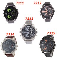 Wholesale Mens Watches Top Brand Luxury watches DZ Quartz Watch Steel Band Fashion Sports WristWatches For Men