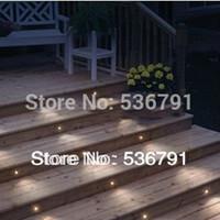 al por mayor cable al por mayor juego de luces-Mayor-Libre del envío LED 12 x 30 mm de la plataforma / Zócalo / Kits de luz de la escalera al aire libre: 12pcs luces 1pc 8W LED 1pc cable conductor (SC-B105B)