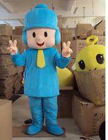 Wholesale NEW pocoyo boy Mascot Costumes costume Chirstmas kitty elmo dora barney party Fancy Dress