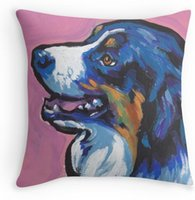 australian hotels - Australian shepherd Aussie Bright colorful Pop Art Zippered Pillows Decorative Pillowcase