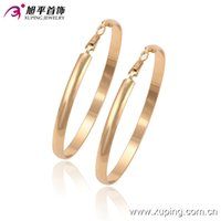 big gold earrings hoops - Low Price Earhoops k Gold Color Earrings For Women Ameican Hot Sell Fashion Big Earhoops Copper Jewlery Earrings From Xuping Brand