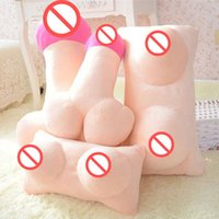 Wholesale Creative Tricky Plush Cushion Big Boobs Breast Erotic Toy Penis Dick Pillow Fetish Gift For Friends