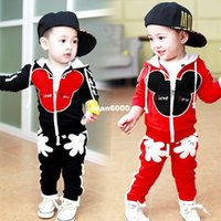 Wholesale Factory direct boy spring new Mickey coat pants two sets of women s casual sportswear