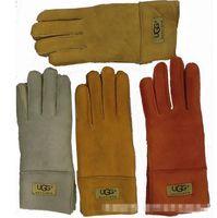 Wholesale NEW UG Women Sheepskin leather gloves female winter warm fashion Windproof Antifreeze gloves