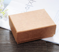 ring boxes - Simple Seven High Quality Muji Necklace Jewelry Box Lovers Ring Case Gift Package Kraft paper Box Middle