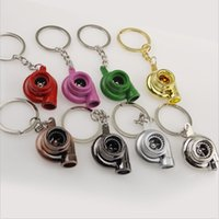 Shorts air turbines - Turbo KeyRing Keychains Personality Alloy Air Blower Key Ring Chain Turbine Turbocharger Sleeve Bearing for kid s gift