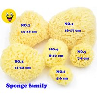Wholesale Greek Blackheads Remove Sponge Greek Adult Bath Honeycomb Sponge INCH Yellows without stimulation for skin