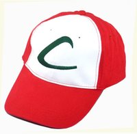 ash trainers sale - 2016 Hot Sale Anime Cosplay Pocket Monster Ash Ketchum Baseball Trainer Cap Hat Summer Cap Gift Unisex Mesh Pock mon Go Ball Hat