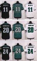 Wholesale 2016 Newest Men s PE Carson Wentz Brian Dawkins Ryan Mathews Elite Football Jerseys