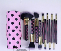 bh cosmetics brush set - 11pcs Makeup Tools Brushes Fashional BH Cosmetic Brush set kits Tool Facial Make up brushes with Cup Holder Case