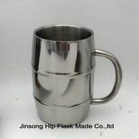 Wholesale 500ML Stainless Steel beer mug Double Wall Mirror finish high quality stainless Personalized logo is available