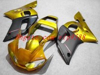 Wholesale 3 Gifts New ABS Fairings Kit Bodywork For YAMAHA YZF R6 YZF600 YZF YZF R6 YZFR6 Cool golden