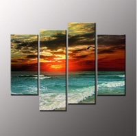 Wholesale 4 spell frameless paintings abstract landscapes adornment bedroom adornment the sitting room dining room hang a picture