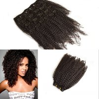 Wholesale 4B C Afro Kinky Curly Clip in Human Hair Extension Unprocessed Burmese Human Hair set