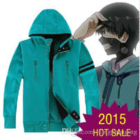 Wholesale Anime Tokyo Ghoul Kaneki Ken Cosplay Costume Unisex Hoodie Sweatshirt Hooded Sweat Shirts Coat Jacket