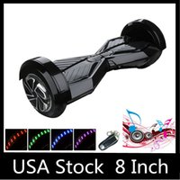 electric remote - 8 inch LED Scooters Self Balancing Wheel Smart Hoverboard Bluetooth Music Speaker Remote Electric Skateboard Two Wheels Stock in USA