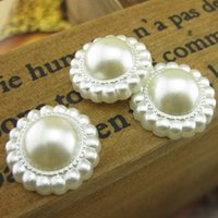 Wholesale Bag Plastic Pearl Flower Patch Diy Wedding Dress Hair Sewing Accessory