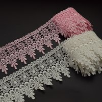 Wholesale 15yards white and pink Hearts Embroidered Victorian Venice Lace Trim Crafts Sewing wide cm