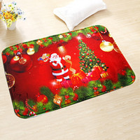 Wholesale New Christmas Non Slip Bath Mat Rugs and Carpets for Christmas Decoration Beautiful Floor Mat Doormat cm