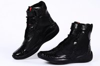american designer shoes - 2016 Fashion Designer Men Luxury Hip Top Casual Shoes Men s American Cup Sneakers Black Pantent Leather Boots Italian Shoes for Sale