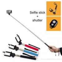 Wholesale Handheld Kit Cabo Suporte Para Palo Pau De Selfie Stick Monopod Bluetooth Tripod Self Monopad Mono pod Tripe Monope Para Celular