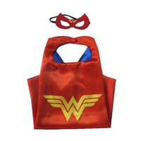 Wholesale Greenlantern Cloak Layer Supergirl Cloak Children Boy Costume Halloween Cosplay Costumes For Children Captain Costume Capes and Cloaks