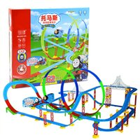 Wholesale New Electric Train Track Risky Rail Bridge Drop Play Set Toy For Kids Children s Xmas gifts