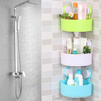 Wholesale 2016 New Usefull Quality Cute Bathroom Corner Storage Rack Organizer Shower Wall Shelf with Suction Cup