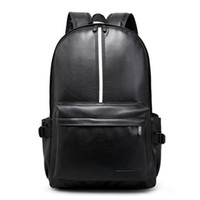 Wholesale Hot New Design Fashion Leather Women Backpacks Preppy Style School Bags for Teenagers Casual Black Men Travel Bags mochilas