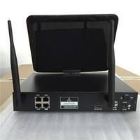 Wholesale P2P Wireless Wifi NVR Kit CH P P RJ45 M SCREEN Network Video Recorder with Camera W KIT NVR