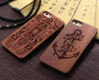 bamboo designs - Natural Wooden Case Cover for Iphone S Plus Customize Design D Engraving Wood Bamboo Super hero Spider Man Captain America Cases