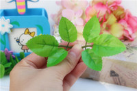 belt screen printing - Hand for diy handmade material belt screen printing rose green artificial leaf