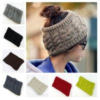 Wholesale Women Winter Knitting Hats Flower Print Head Band Hair Hoop High Quality Hat Handmade Pattern Hats Colorful Crochet Hats Colors