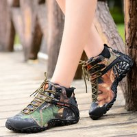 Cheap Brand Men winter outdoor camouflage high top Women Motorcycle western desert hunting martin boots work tooling ankle climbing hiking boots