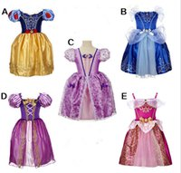 Wholesale Stage Wear Frozen dresses Frozen Fever Girl Elsa Blue Dress Anna Dresses Kids Summer Gauze Clothing Princess Sho Girls Dress Suits for Child