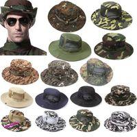 Wholesale Bucket Hat Boonie Hunting Fishing Outdoor Athletic Cap Wide Brim Military Unisex Sun Snapbacks Headwears HB H01