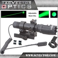 Cheap Lots of 3pcs Vector Optics Magnus Green Laser Designator Flashlight w  Scope Ring & QD Mount